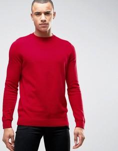 Красный джемпер с горловиной в мелкий рубчик New Look - Красный
