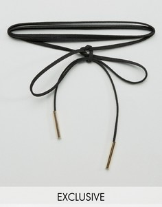 Ожерелье-чокер в несколько оборотов Reclaimed Vintage - Черный