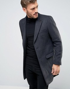 Длинное шерстяное пальто Scotch & Soda - Серый