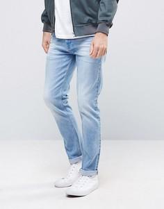 Голубые джинсы скинни в крапинку ASOS - Синий