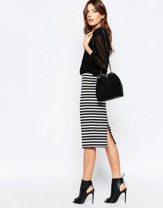 Облегающая юбка миди в полоску Sisley - Мульти
