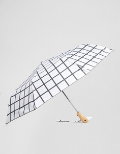 Белый зонт с принтом в клетку Original Duckhead - Мульти