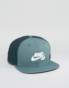 Зеленая бейсболка Nike SB Icon Pro 628683-392 - Зеленый