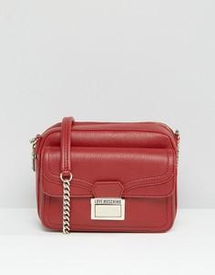 Маленькая сумка через плечо Love Moschino - Красный