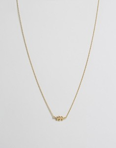 Ожерелье с листиком Orelia - Золотой