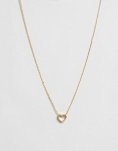 Ожерелье с сердцем Orelia - Золотой