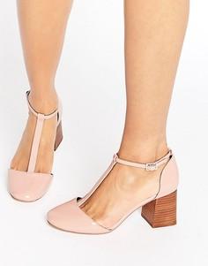 Туфли на каблуке с Т-образным ремешком ASOS ONE WISH - Розовый