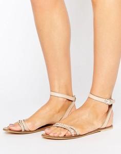 Кожаные сандалии ASOS FLERY - Розовый