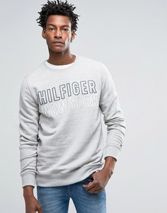 Hilfiger Denim Crew Neck Sweatshirt With Logo - Серый