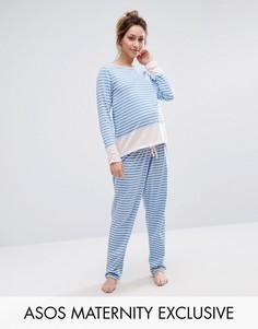 Пижама в полоску для беременных ASOS Maternity - Мульти