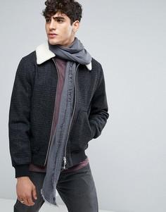 Шарф с шевронным узором Esprit - Серый