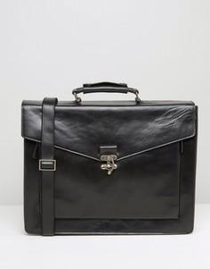 Кожаный портфель Royal RepubliQ Conductor - Черный