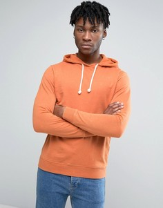 Troy Crew Neck Hoody in Washed Rust - Рыжий