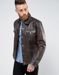 Кожаная куртка Levis Buff Rustic - Коричневый Levis®