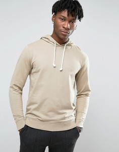 Troy Crew Neck Hoody in Washed Sand - Бежевый