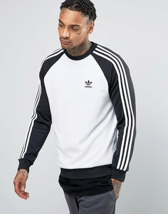 adidas Originals Superstar Crew Neck Sweatshirt In White BK5822 - Черный