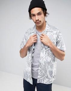 Белая рубашка свободного кроя с принтом Levis Line 8 Wilderness - Белый