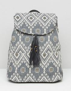 Жаккардовый рюкзак с заклепками Hollister - Мульти