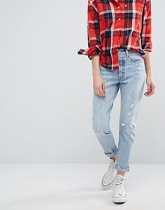 Зауженные джинсы с потертостями Levis 501 - Синий Levis®