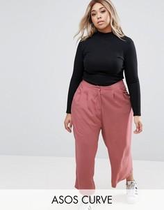Юбка-брюки со складками спереди ASOS CURVE - Розовый
