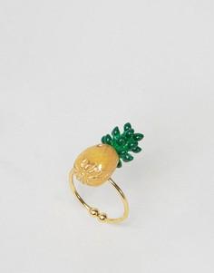 Кольцо ограниченной серии с ананасом - Мульти Asos