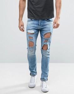 Синие джинсы скинни Redefined Rebel - Синий