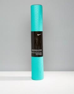 Сине-зеленый коврик для занятий йогой Nike 3 мм - Зеленый