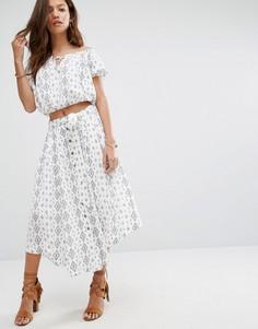 Комбинируемая юбка с принтом Moon River - Белый
