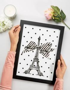 Картина в рамке с Эйфелевой башней Miss Etoile - Мульти