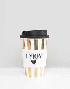Керамическая дорожная кружка Miss Etoile Enjoy - Мульти