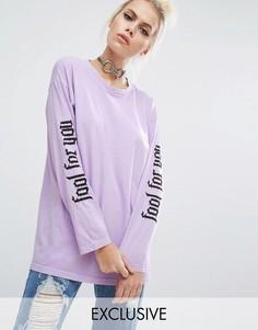 Лонгслив-oversize Fool For You Adolescent Clothing Valentines - Фиолетовый