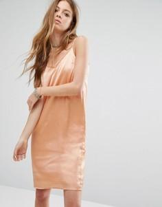 Платье-майка с кружевной вставкой Noisy May - Розовый