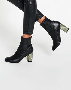 Кожаные сапоги ASOS ELIXIR - Черный