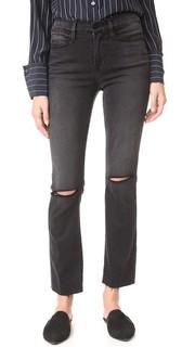 Прямые джинсы Le High с необработанными краями Frame
