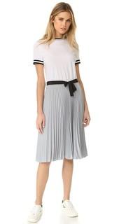 Платье в складку с цветными блоками RED Valentino