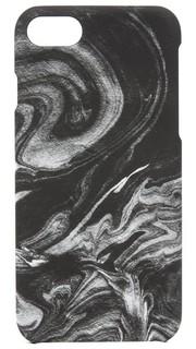 Чехол для iPhone 7 с рисунком под дымчатый мрамор Felony Case