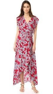 Платье с фигурной цветочной отделкой Splendid