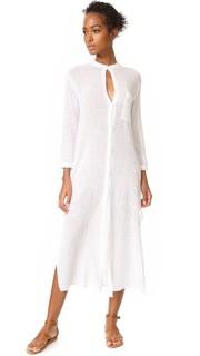 Макси-платье со слегка укороченными рукавами Enza Costa