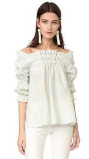 Свободная расклешенная блуза с открытыми плечами Amelia Toro