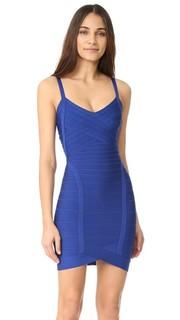Коктейльное платье без рукавов Kourtney Herve Leger