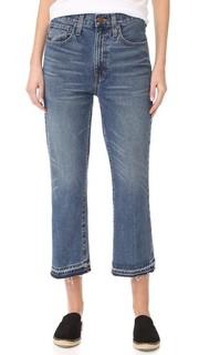 Свободные укороченные расклешенные джинсы с необработанным низом Madewell