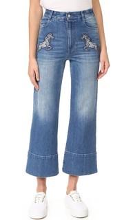 Укороченные расклешенные джинсы из денима Stella Mc Cartney