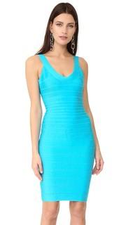 Коктейльное платье без рукавов Sydney Herve Leger