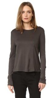 Укороченная футболка с карманом и длинными рукавами T by Alexander Wang