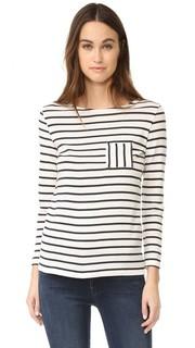 Полосатая футболка 1X1 Iconic с карманом Petit Bateau