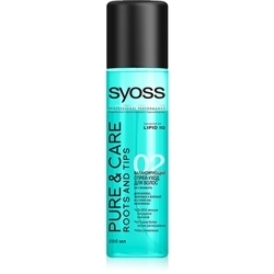 SYOSS Спрей-уход для волос, жирных у корней и сухих на кончиках Pure & Care 200 мл