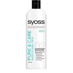 SYOSS Бальзам для волос, жирных у корней и сухих на кончиках Pure & Care 500 мл
