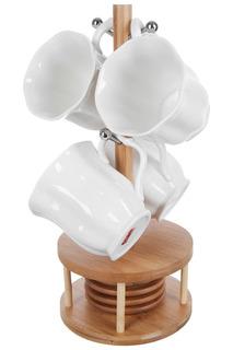 Кружки, 4 шт., 4 костера Best Home Porcelain