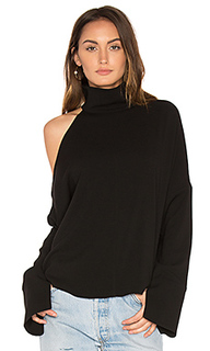 Asymmetrical cut out shoulder top - Tibi