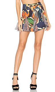Multi print mini skirt - AGUADECOCO